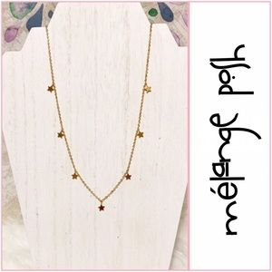 mélange posh Jewelry - Delicate Stars Embellished Necklace